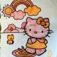 Hello Kitty, in orange marker and red pen (2011)