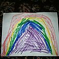 Rainbow, in marker