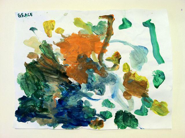 Shoreline, in finger paint (2010/11)
