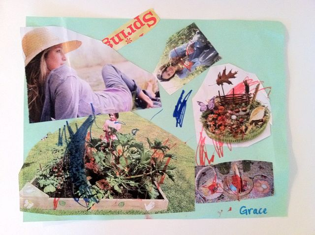 Collage, using glue and magazine clippings